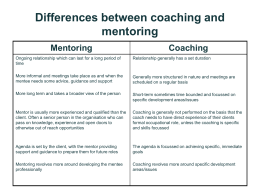Differences between coaching and mentoring
