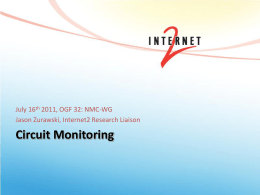 Circuit Monitoring