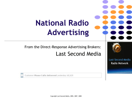 National Radio Advertising