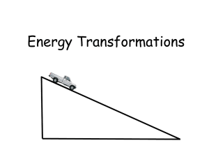 Energy Transformations using a Car on a Hill aka Inclined Plane