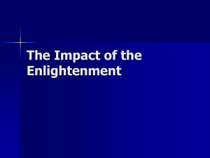 The Impact of the Enlightenment