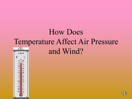 How Does Temperature Affect Air Pressure and Wind?