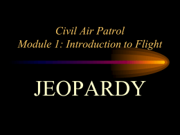 Module 1 Introduction to Flight - Jeopardy