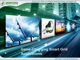 Game-Changing Smart Grid Applications