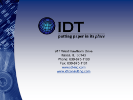 IDT Remote Deposit Capture Pilot Pack Presentation - Idt