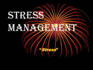 Stress Management - Dr. Fayose