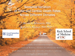 AHA 2012 Slide Presentation Cardiac Death Seasonal