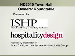 The 2010 ISHP Town Hall Survey