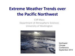 Extreme Weather Trends over the Pacific Northwest