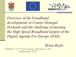Brussels - ERNACT Digital Regions Platform