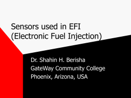 Sensors used in EFI - GateWay Community College