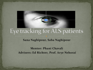 Eye tracking for ALS patients