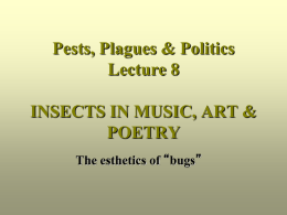 INSECTS IN MUSIC, ART & POETRY