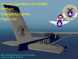 Flight line, Preflight and Egress
