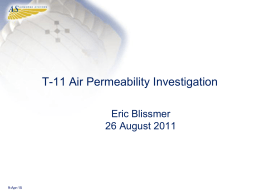 T-11 Air Permeability Investigation
