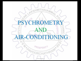 PSYCHROMETRY AND AIR-CONDITIONING