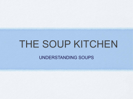 SOUPS - What the World Eats