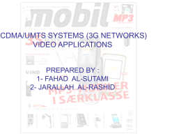 CDMA/UMTS SYSTEMS (3G NETWORKS) VIDEO