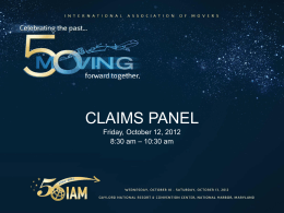Claims Panel