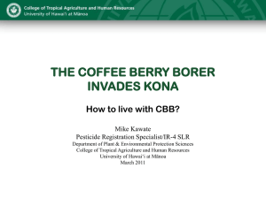 Coffee Berry Borer - Western Region IR4