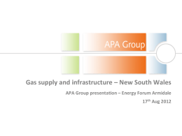 APA Group CSG Powerpoint Presentation