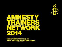 Introduction to Amnesty International UK