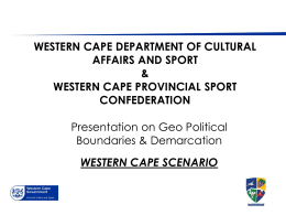 New section heading - Western Cape Provincial Sport Confederation