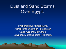 Dust and Sand Storms over Egypt - Northern Africa