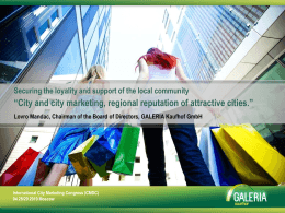 """City and City Marketing"""