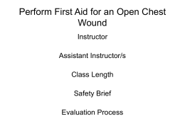 Perform First Aid for an Open Chest Wound