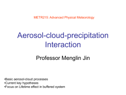 Aerosol-cloud-precipitation Interaction