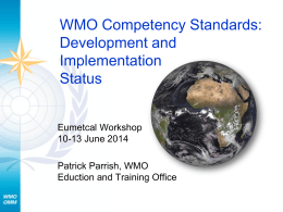 WMO Competencies