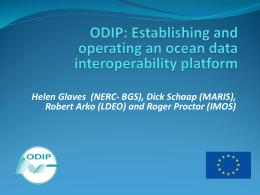 ODIP 3 prototype progress presentation