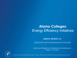 Energy Conservation at Alamo Colleges