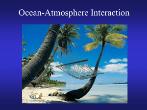Ocean-atmosphere interaction