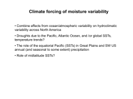 Climate forcing of moisture variability - U