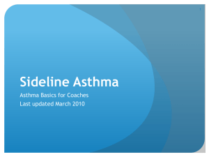 Asthma for Coaches
