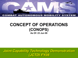 CAMS CONOPS 20 Jun 08