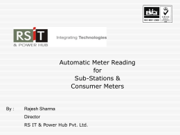 Automatic Meter Reading for Sub Stations and