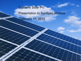 SINVERT PV inverter We make the sun your