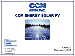 CCM Energy Solar PV Program