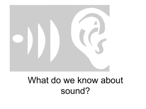 What do we know about sound? - Facultypages.morris.umn.edu