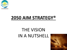 2050 AIM STRATEGY VISION IN A NUTSHELL