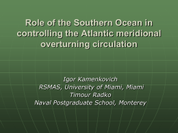 Role of the Southern Ocean in controlling the Atlantic