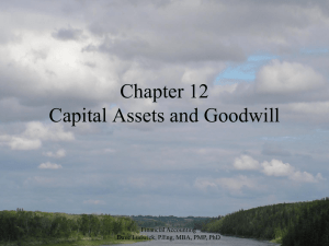 Financial Accounting Chapter 12 - Capital Assets and