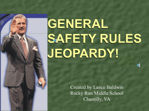 L. Baldwin SAFETY Jeopardy