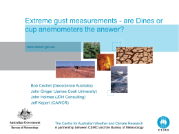Dines anemometer CAWCR seminar - The Centre for Australian