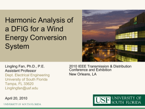 Harmonic Analysis of a DFIG for a Wind Energy Conversion System