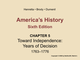 America`s History Sixth Edition CHAPTER 5