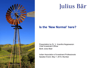 Is the New Normal here - Presentation by Dr. V. Anantha